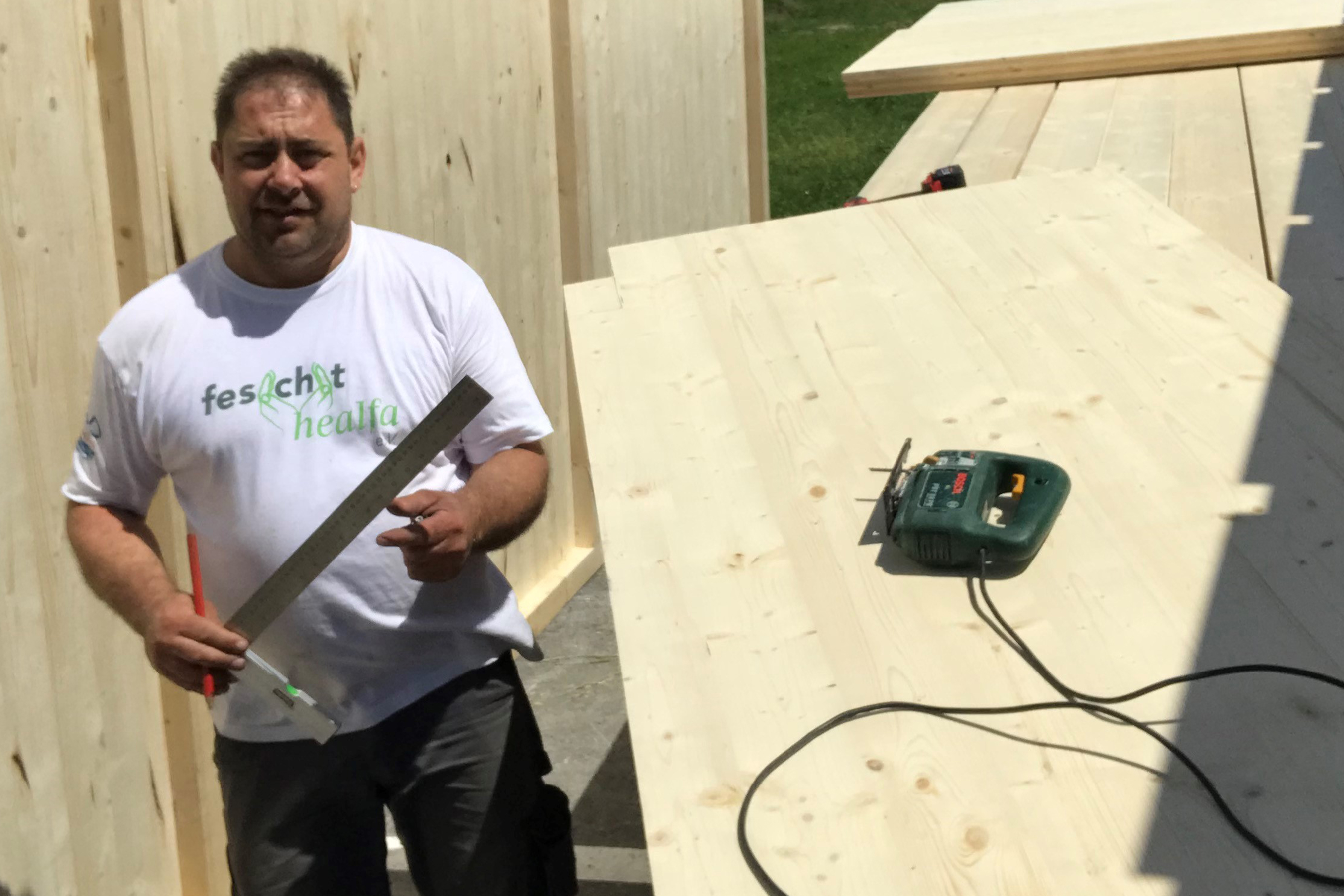 making of: Unsere Männer bauen den neuen Hofladen