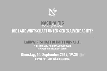 Vortrag und Meinungsaustausch: Die Landwirtschaft unter Generalverdacht!?